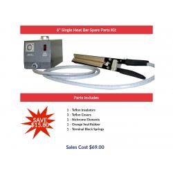 "6"" Single Heat Bar Spare Parts Kit"