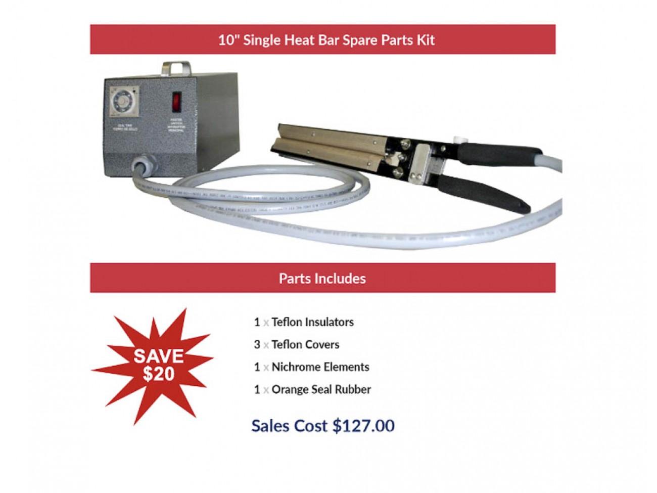 "10"" Single Heat Bar Spare Parts Kit"