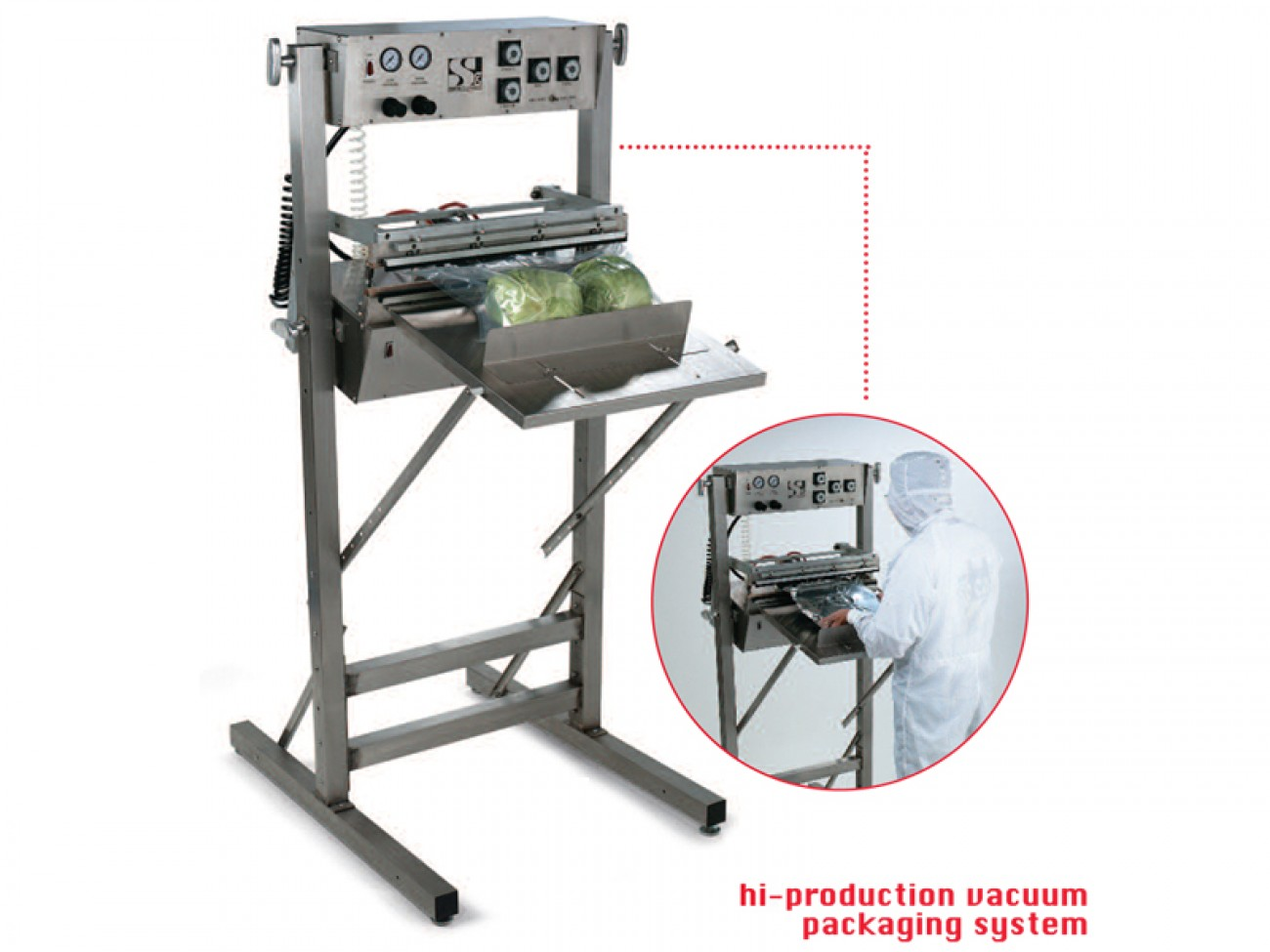 Custom Pak Hi-production Vacuum Packaging Machine